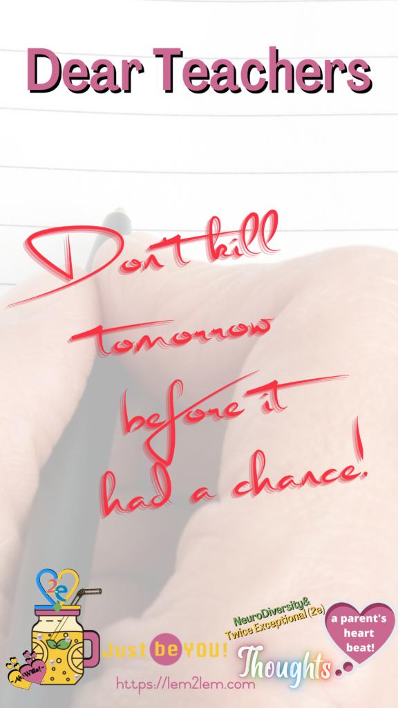 Don't kill tomorrow define for Lemon2Lemade © copyright