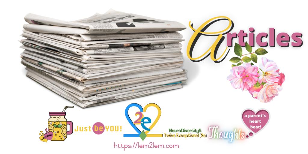 articles header for Lemon2Lemonade © copyright